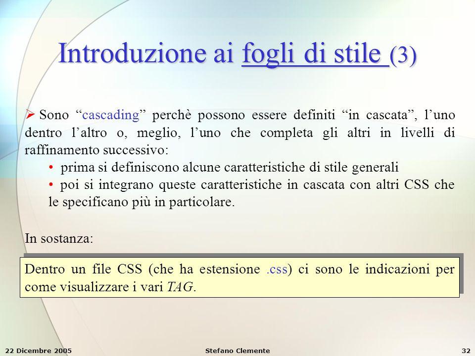 Introduzione ai fogli di stile (3)