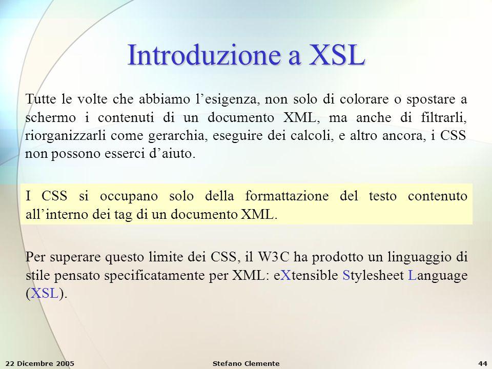 Introduzione a XSL