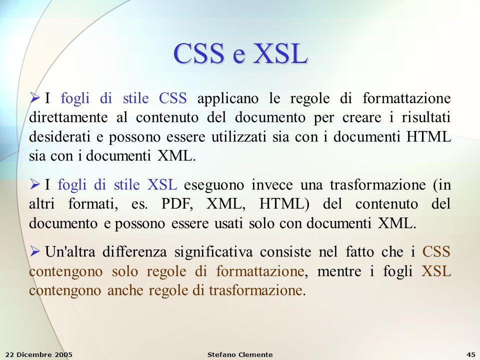 CSS e XSL