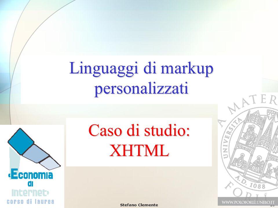 Linguaggi di markup personalizzati