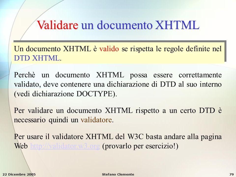 Validare un documento XHTML