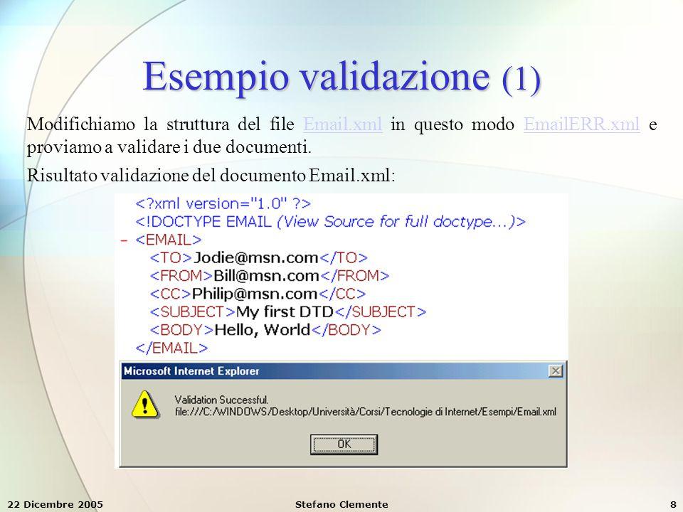 Esempio validazione (1)