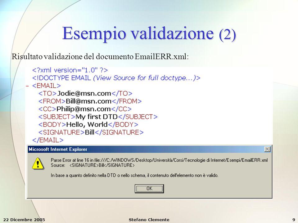 Esempio validazione (2)