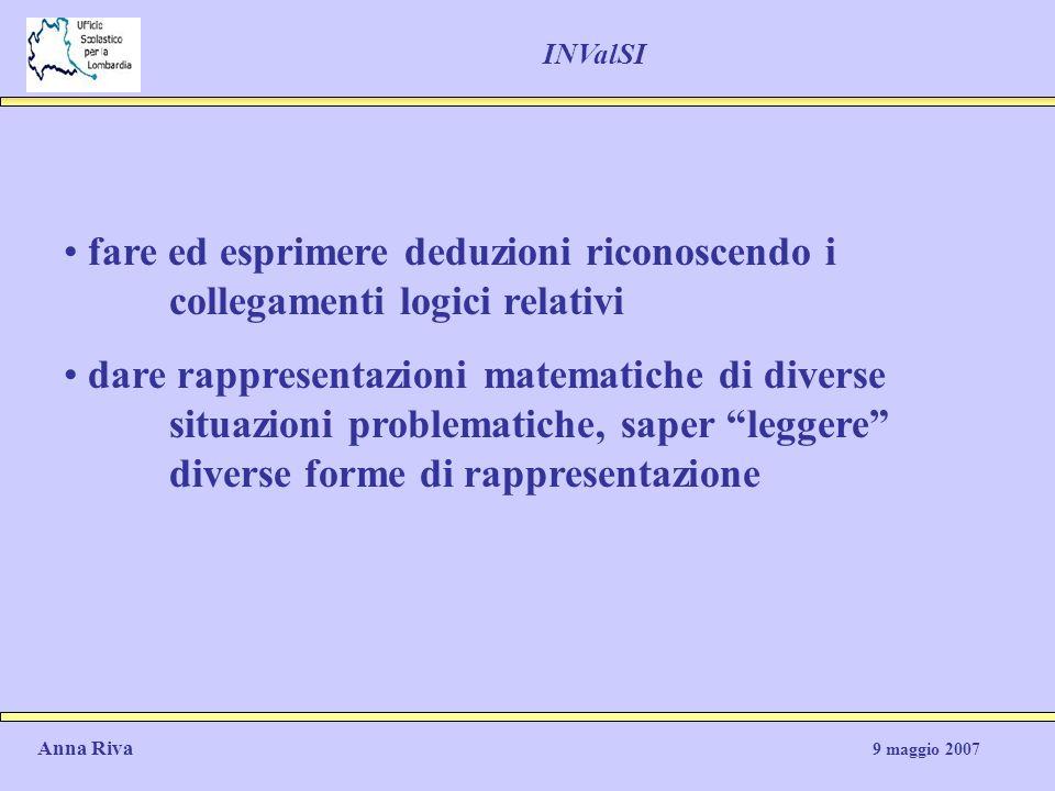 INValSI fare ed esprimere deduzioni riconoscendo i collegamenti logici relativi.