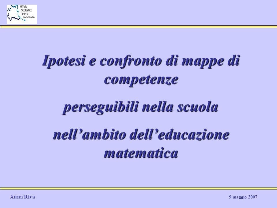 Ipotesi e confronto di mappe di competenze perseguibili nella scuola