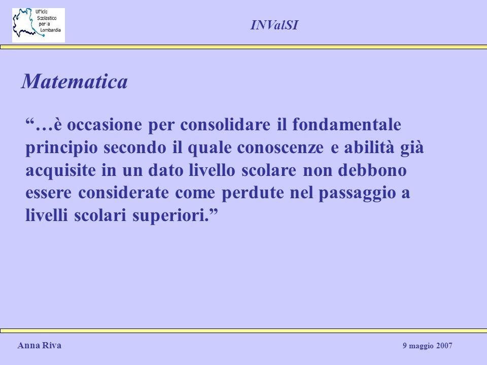 INValSI Matematica.