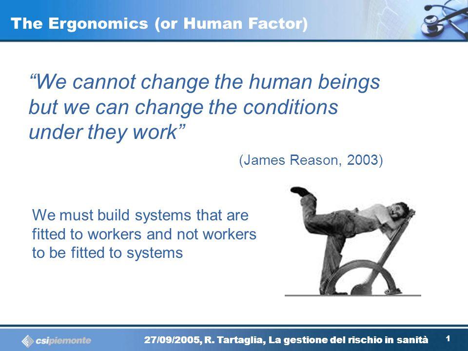 The Ergonomics (or Human Factor)