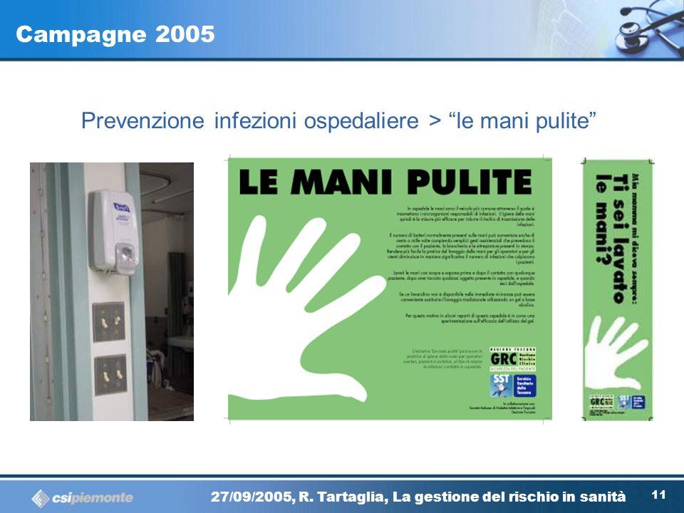Campagne 2005 Prevenzione infezioni ospedaliere > le mani pulite