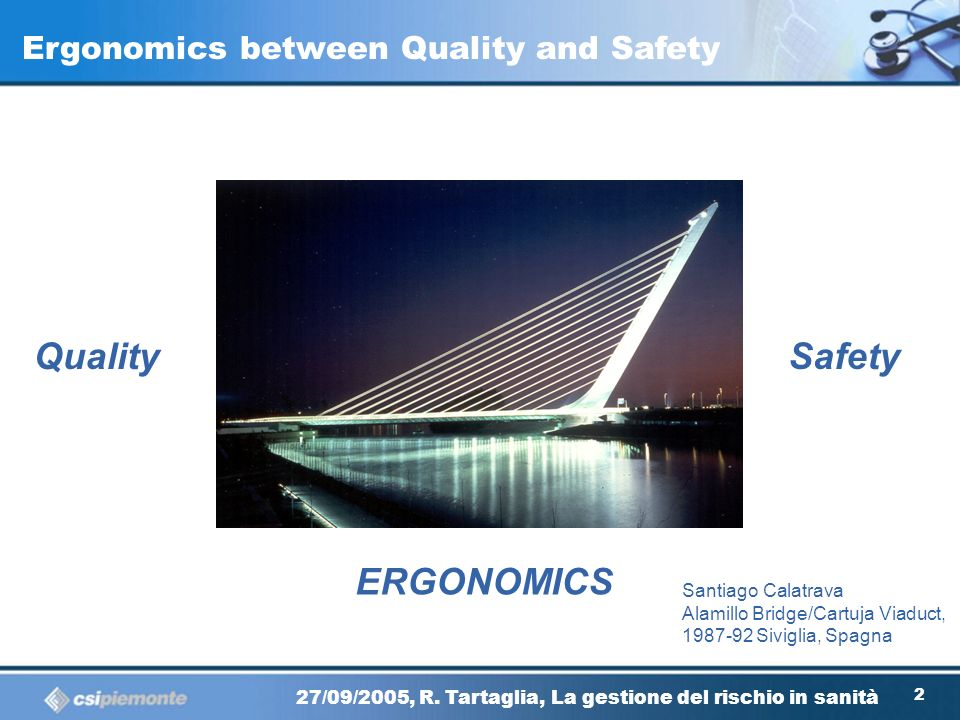 Quality Safety ERGONOMICS Ergonomics between Quality and Safety