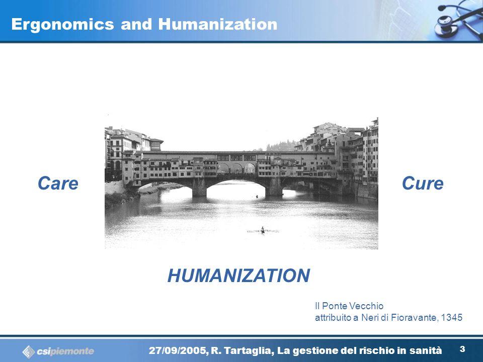 Care Cure HUMANIZATION Ergonomics and Humanization Il Ponte Vecchio