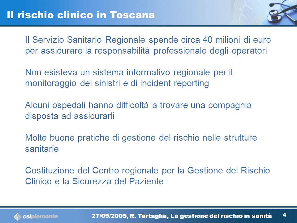 Il rischio clinico in Toscana