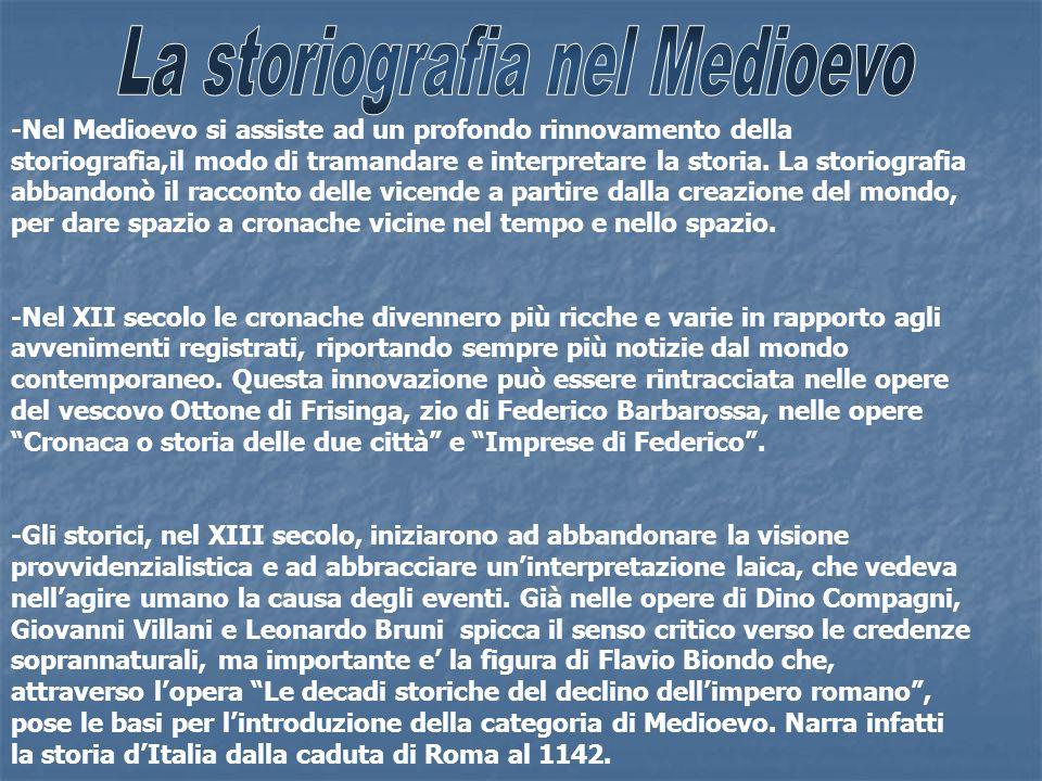 La storiografia nel Medioevo