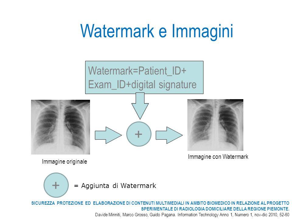 Watermark e Immagini + + Watermark=Patient_ID+