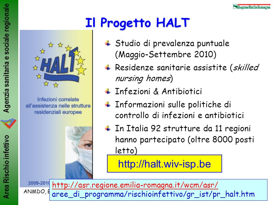Il Progetto HALT http://halt.wiv-isp.be