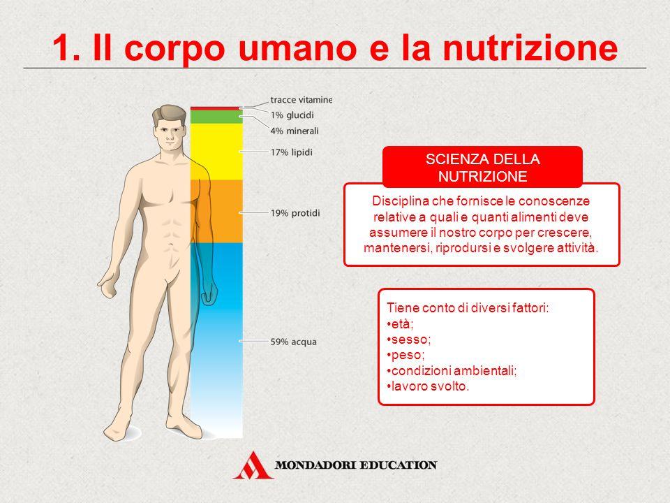 1. Il corpo umano e la nutrizione