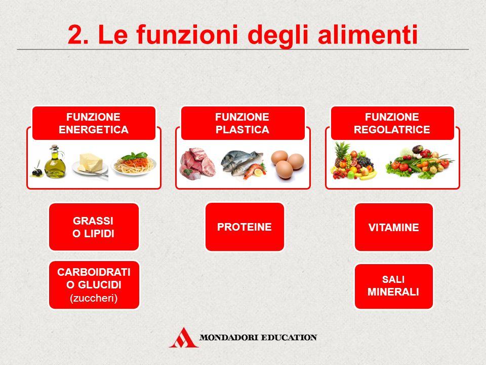 2. Le funzioni degli alimenti