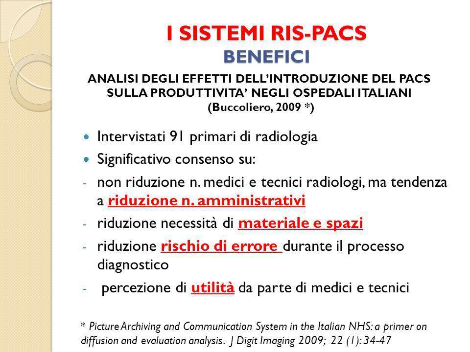 I SISTEMI RIS-PACS BENEFICI