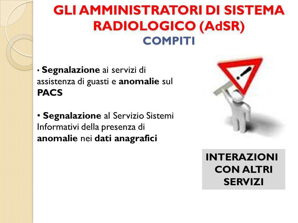 GLI AMMINISTRATORI DI SISTEMA RADIOLOGICO (AdSR) COMPITI