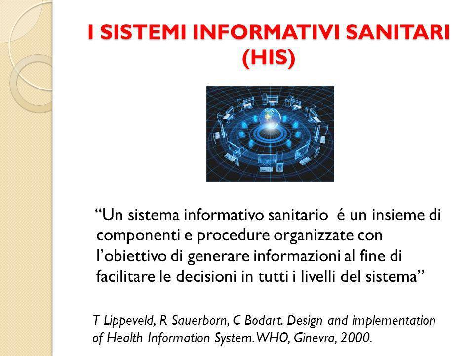I SISTEMI INFORMATIVI SANITARI (HIS)