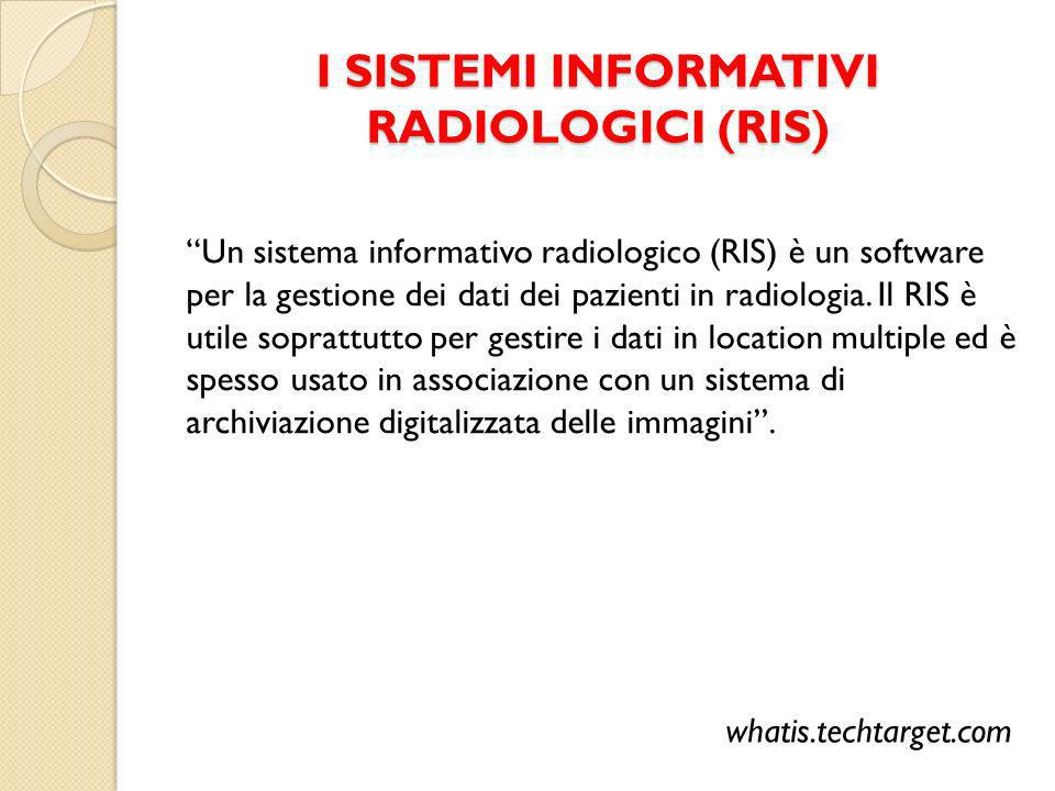 I SISTEMI INFORMATIVI RADIOLOGICI (RIS)