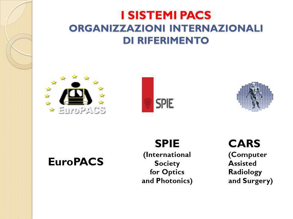 I SISTEMI PACS ORGANIZZAZIONI INTERNAZIONALI DI RIFERIMENTO