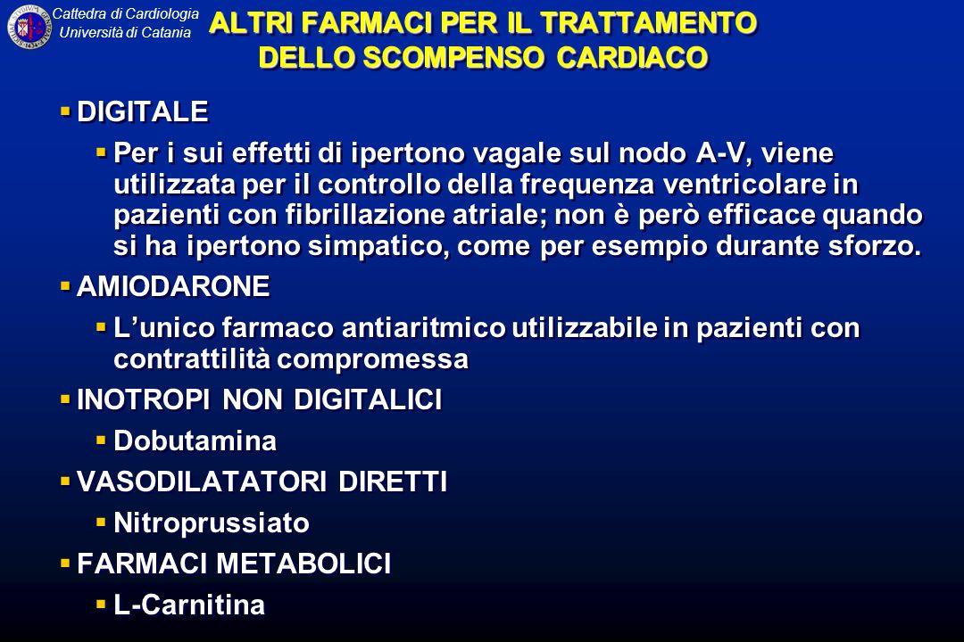 ALTRI FARMACI PER IL TRATTAMENTO DELLO SCOMPENSO CARDIACO
