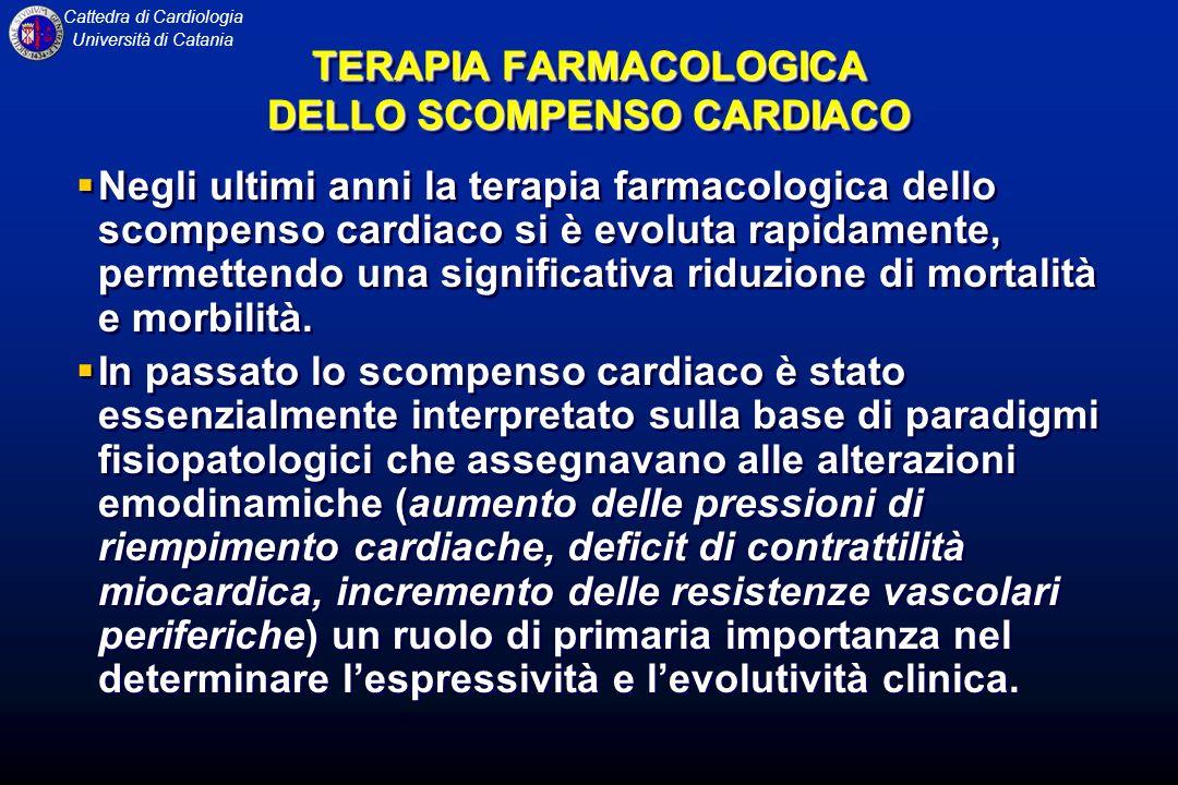 TERAPIA FARMACOLOGICA DELLO SCOMPENSO CARDIACO