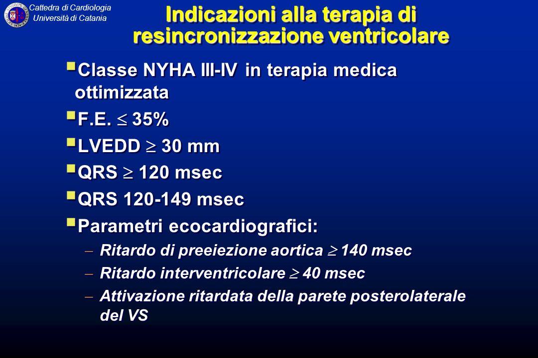 Indicazioni alla terapia di resincronizzazione ventricolare