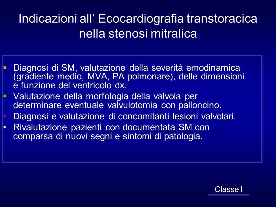 Indicazioni all' Ecocardiografia transtoracica nella stenosi mitralica