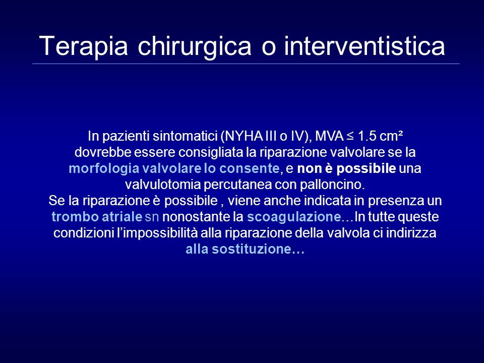 Terapia chirurgica o interventistica