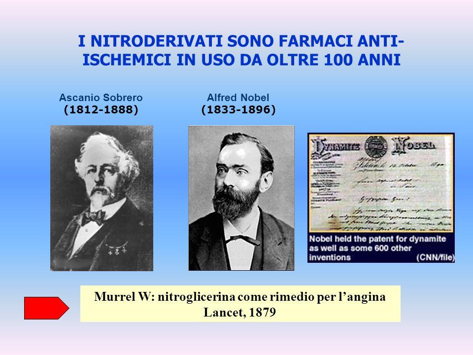 I NITRODERIVATI SONO FARMACI ANTI-ISCHEMICI IN USO DA OLTRE 100 ANNI