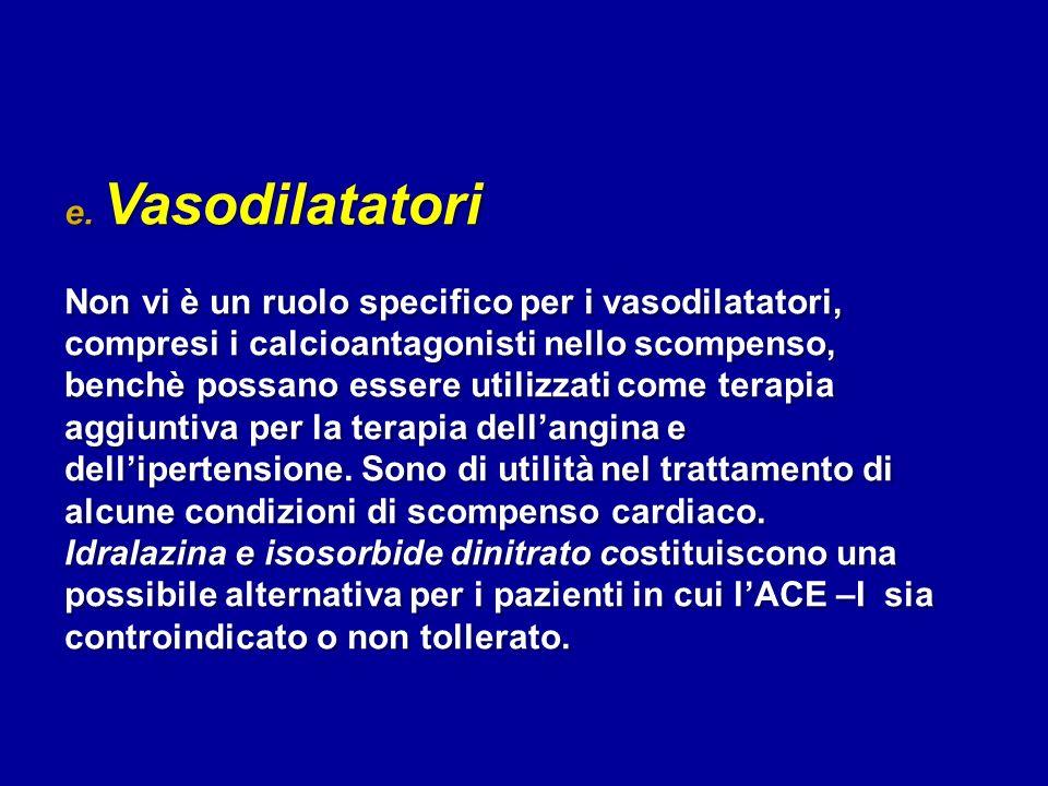 e. Vasodilatatori