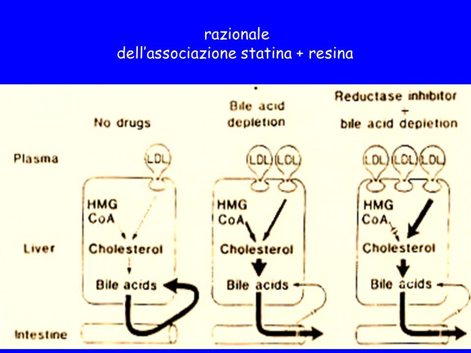 dell'associazione statina + resina