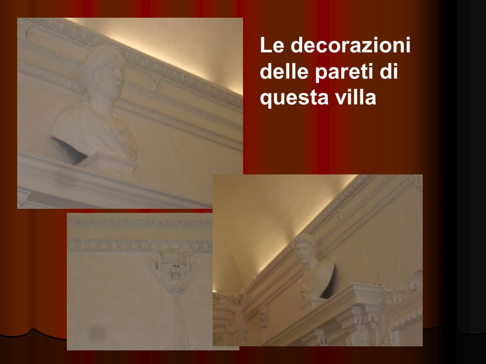 Le decorazioni delle pareti di questa villa