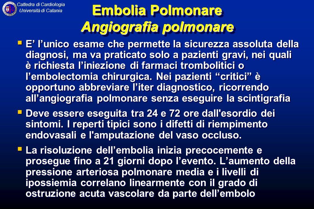 Embolia Polmonare Angiografia polmonare