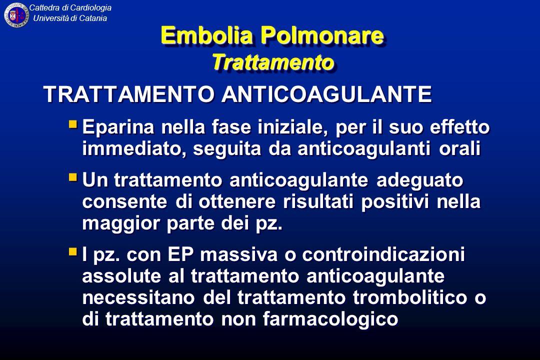 Embolia Polmonare Trattamento