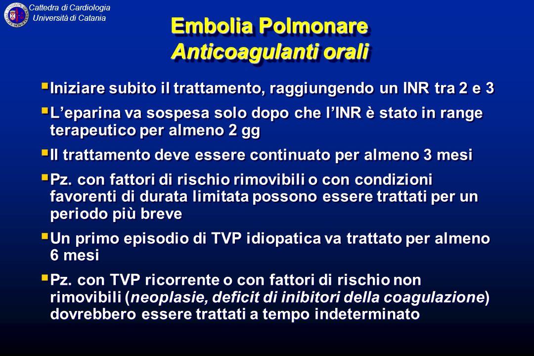 Embolia Polmonare Anticoagulanti orali