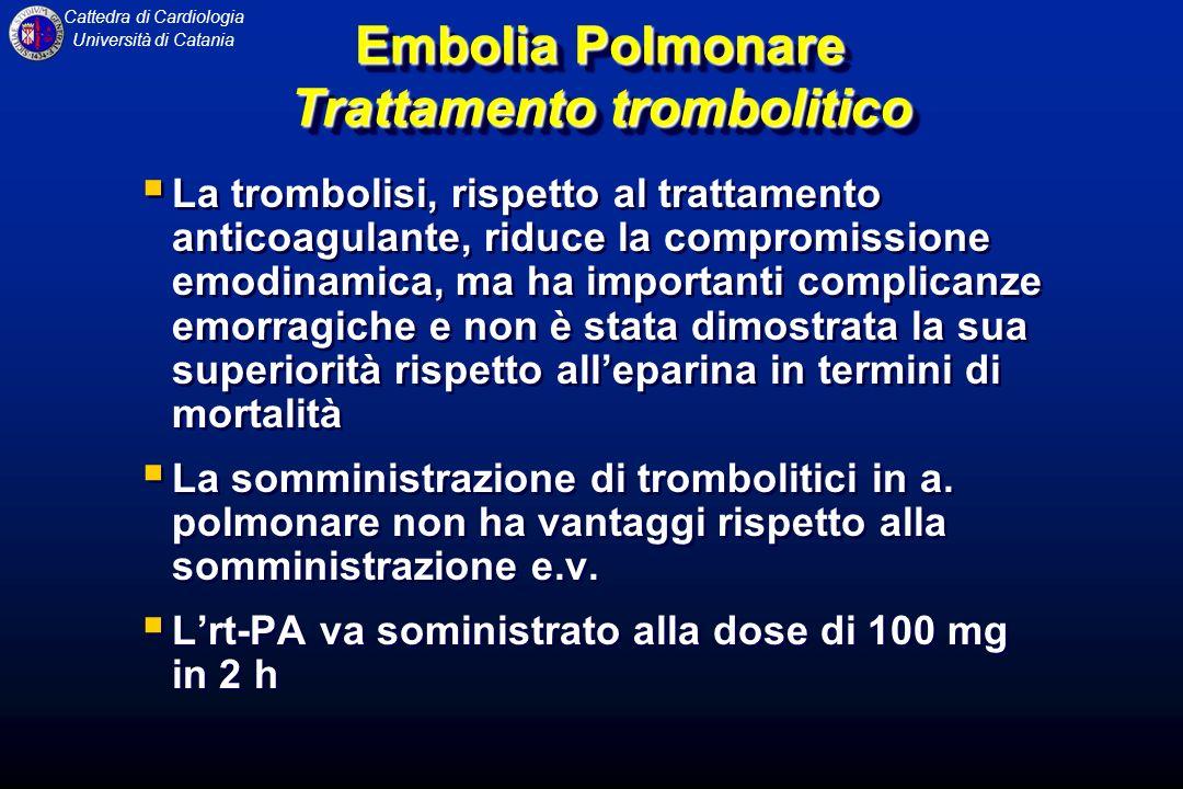 Embolia Polmonare Trattamento trombolitico