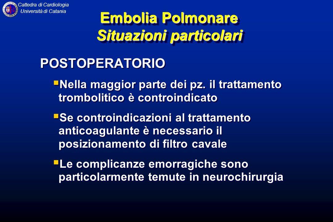 Embolia Polmonare Situazioni particolari