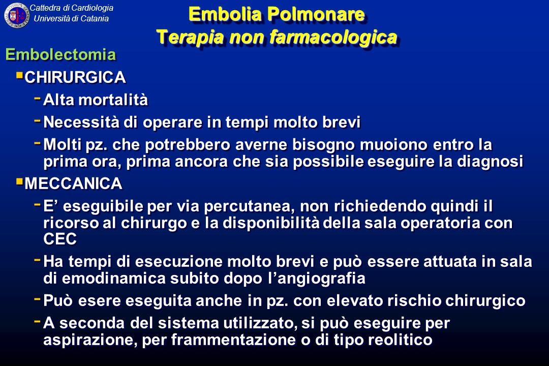 Embolia Polmonare Terapia non farmacologica