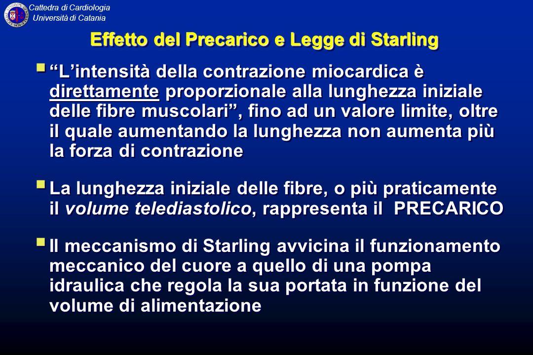 Effetto del Precarico e Legge di Starling