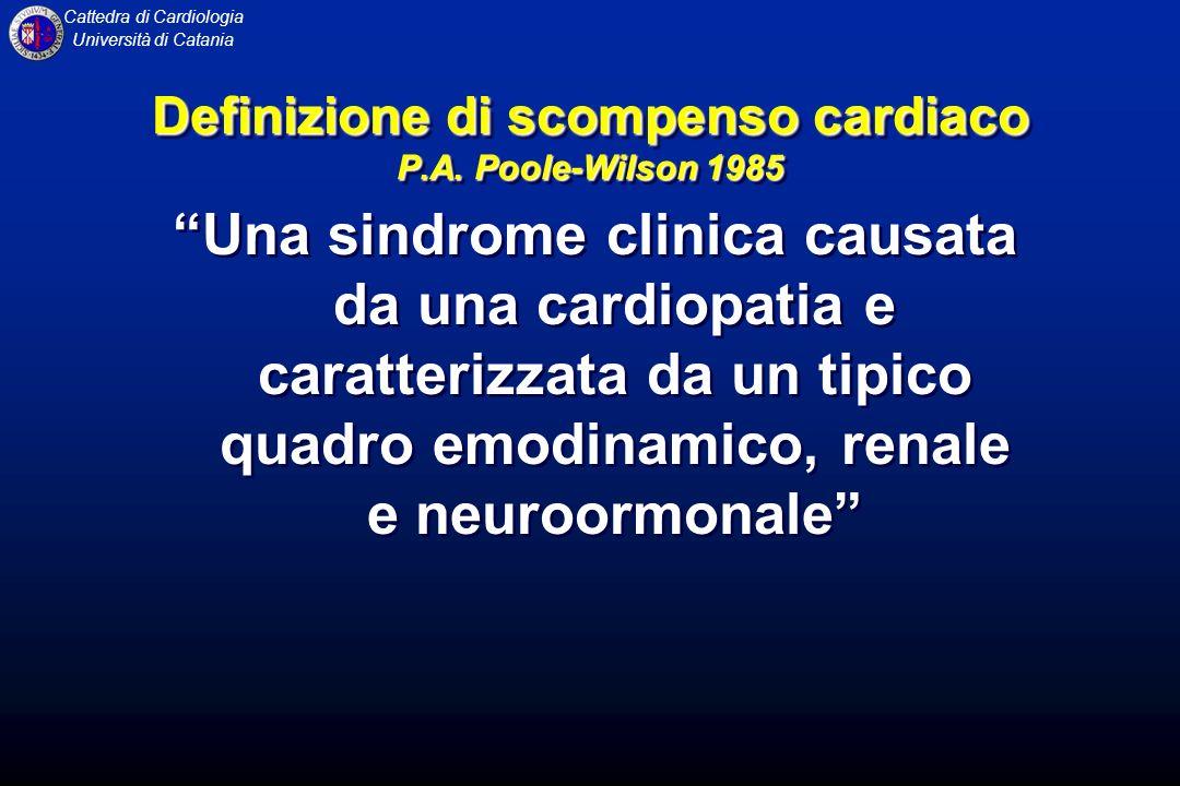 Definizione di scompenso cardiaco P.A. Poole-Wilson 1985