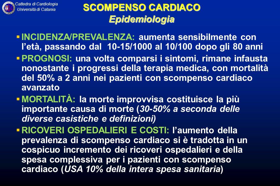 SCOMPENSO CARDIACO Epidemiologia