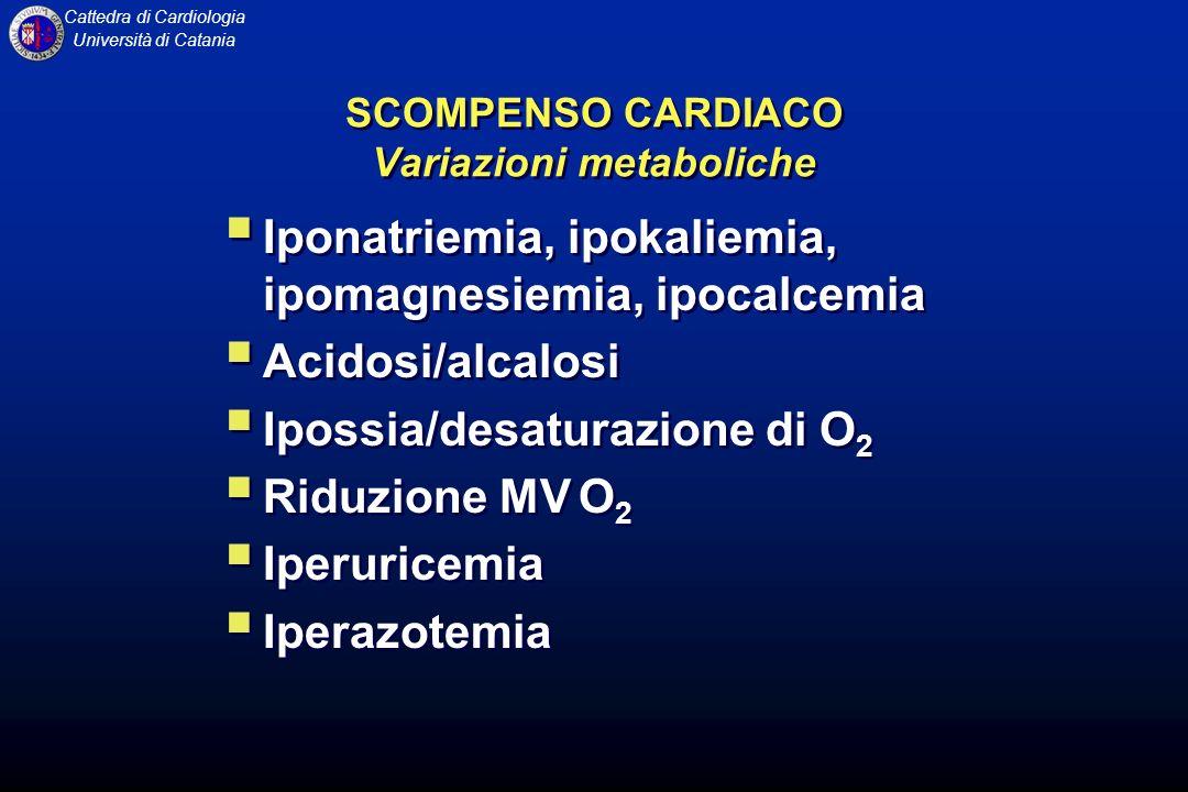 SCOMPENSO CARDIACO Variazioni metaboliche