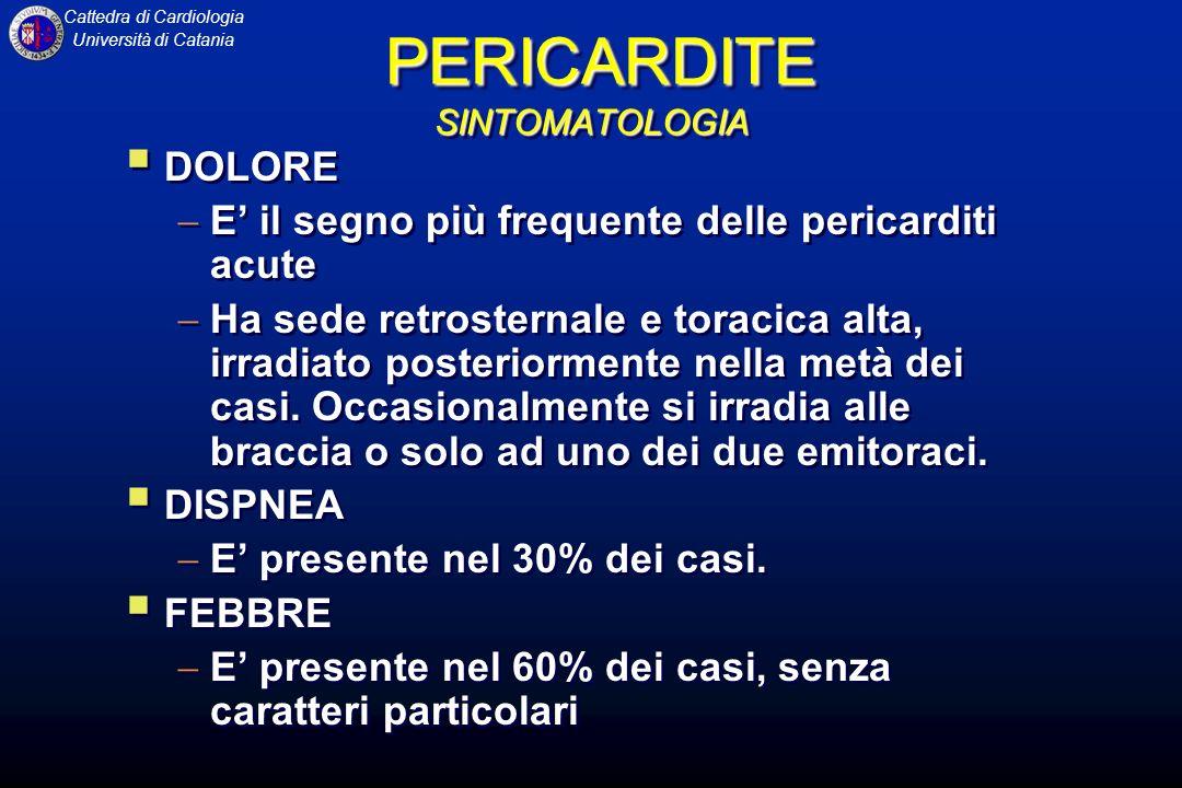 PERICARDITE SINTOMATOLOGIA