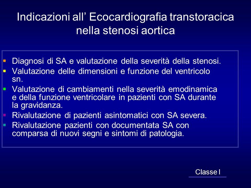 Indicazioni all' Ecocardiografia transtoracica nella stenosi aortica