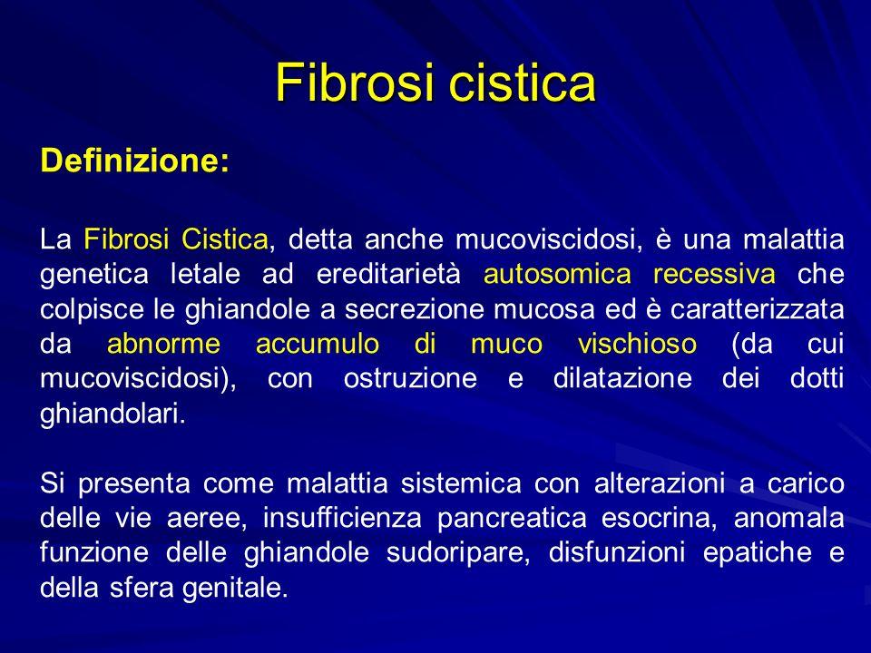 Fibrosi cistica Definizione: