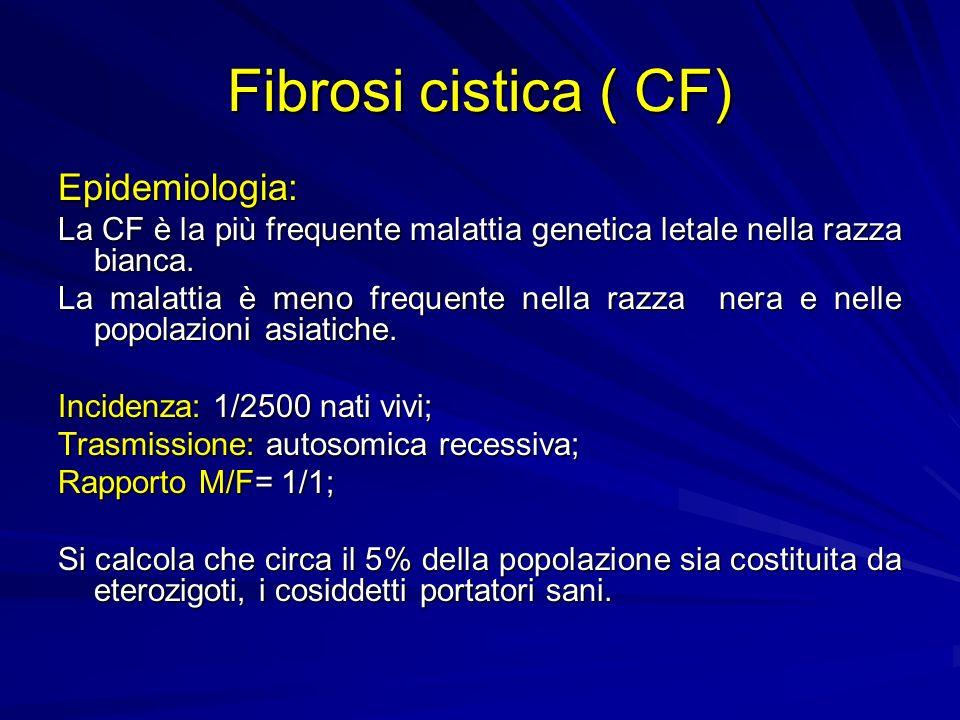 Fibrosi cistica ( CF) Epidemiologia:
