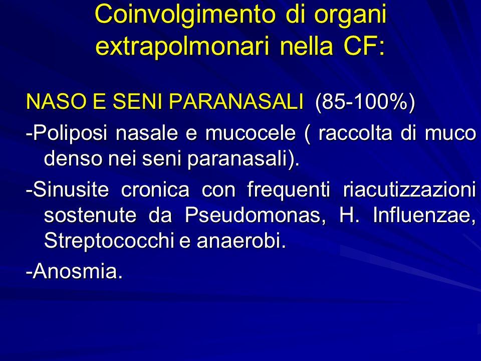 Coinvolgimento di organi extrapolmonari nella CF: