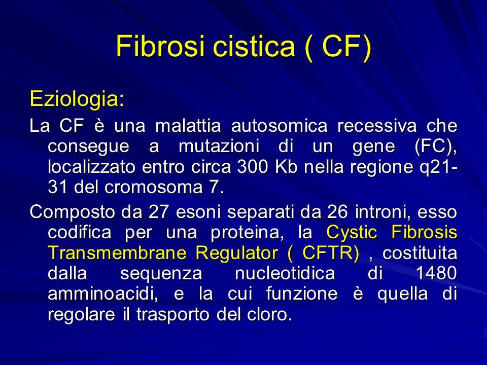 Fibrosi cistica ( CF) Eziologia: